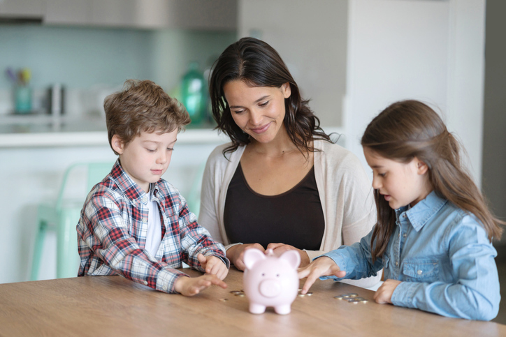 Kids learning about money and financial health