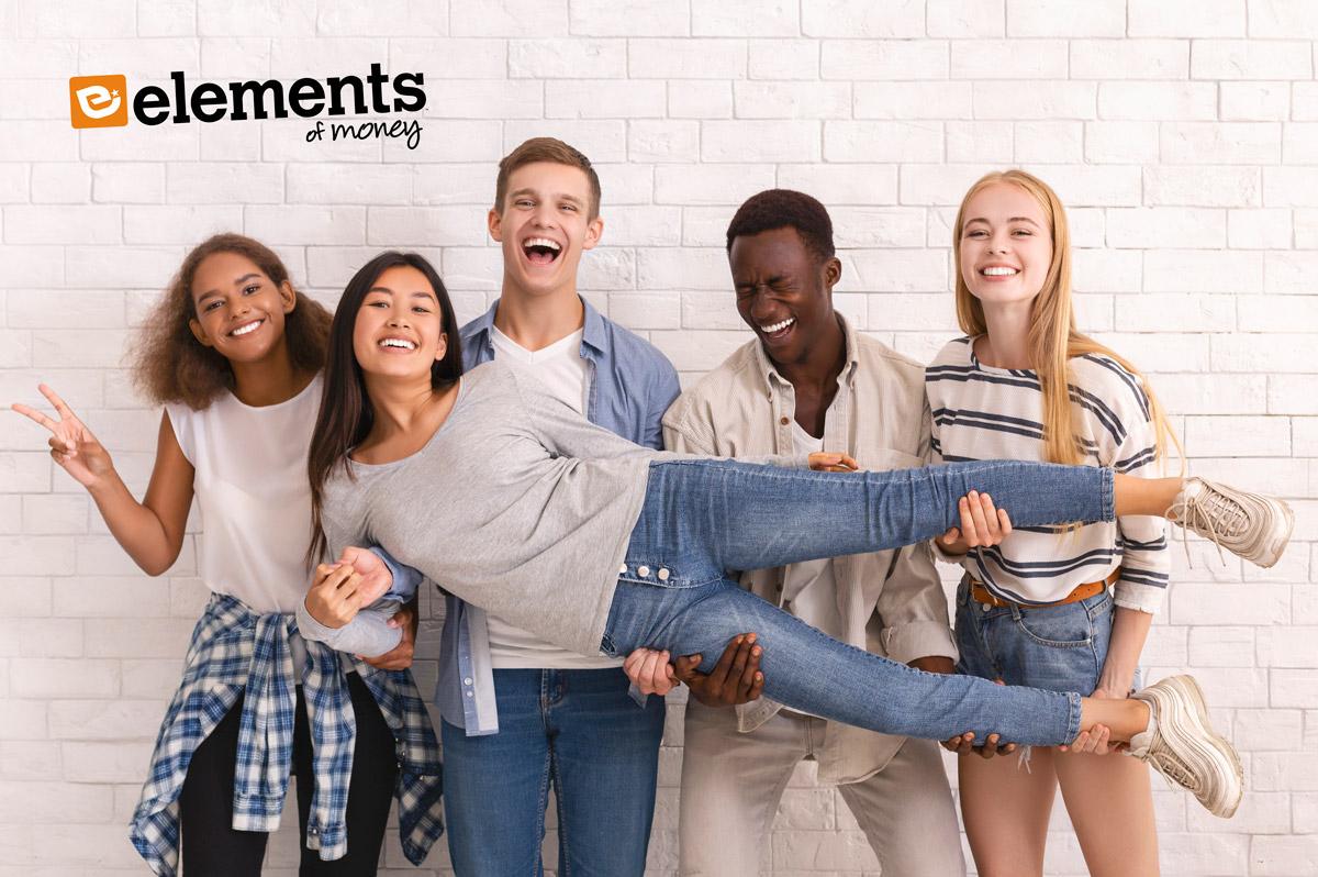 Elements of Money Kids having fun