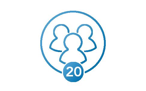 20 members icon